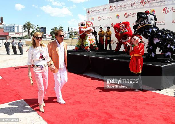 Andrea Hissom and her husband Wynn Resorts Chairman CEO Steve Wynn attends the Genting Group's ceremonial groundbreaking for Resorts World Las Vegas...