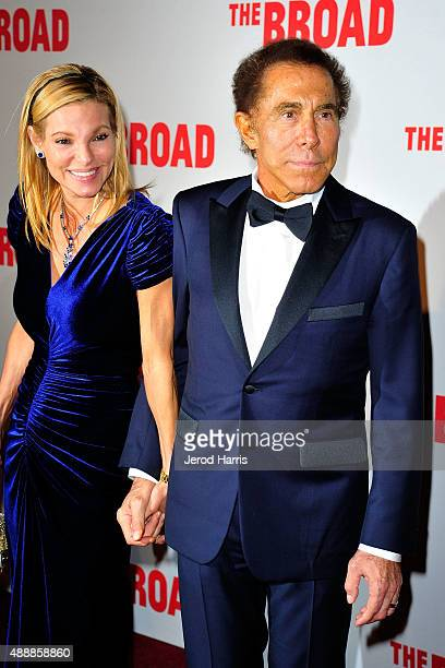 Andrea Hissom and Steve Wynn attend The Broad Museum Black Tie Inaugural Dinner at The Broad on September 17 2015 in Los Angeles California