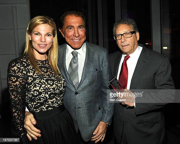 Andrea Hissom Steve Wynn and Stuart Weitzman attend 2012 Footwear News Achievement Awards at MOMA on November 27 2012 in New York City