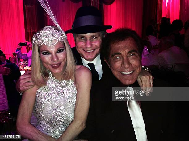 Andrea Hissom Wynn DuJour Media Founder Jason Binn and Steve Wynn pose circa March 2014 in Las Vegas Nevada