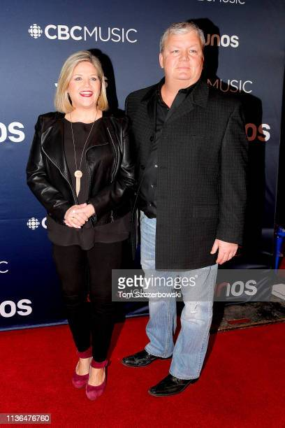 Andrea Horwath and Jill Andrew attend the 2019 Juno Awards Arrivals at Budweiser Gardens on March 17 2019 in London Canada