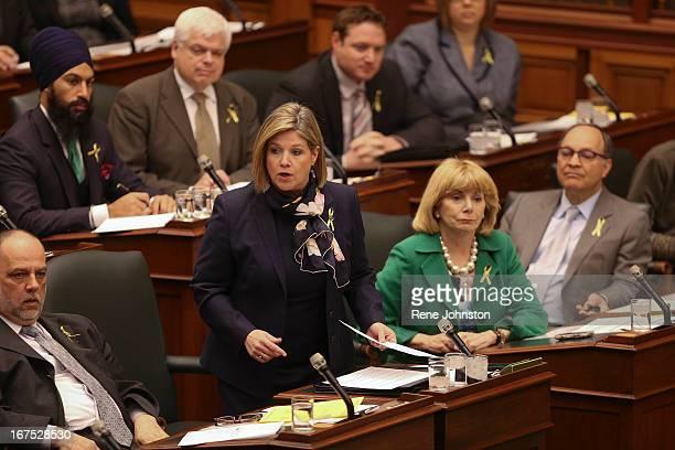 Andrea Horwath Leader Ontario's NDP photographed at the Ontario Legislature