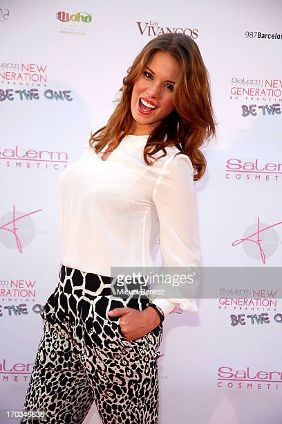 Andrea Huis poses on the red carpet of New Generation by Francina on June 11, 2013 in Barcelona, Spain.