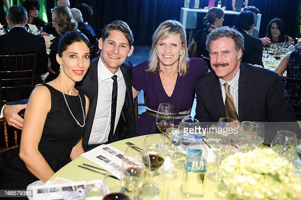 Andrea Hutter Lee Hutter Viveca PaulinFerrell and Will Ferrell attend LACMA's 2013 Collectors Committee Gala Dinner at LACMA on April 13 2013 in Los...