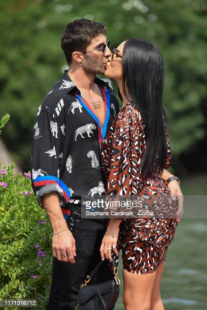 Andrea Iannone and Giulia De Lellis are seen arriving at the 76th Venice Film Festival on August 31 2019 in Venice Italy