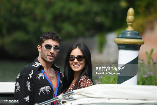 Andrea Iannone and Giulia De Lellis arrive at the 76th Venice Film Festival on August 31 2019 in Venice Italy