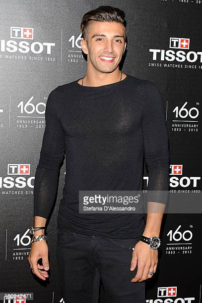 Andrea Iannone attends Tissot 160th Anniversary at Piazza Vetra on September 10 2013 in Milan Italy