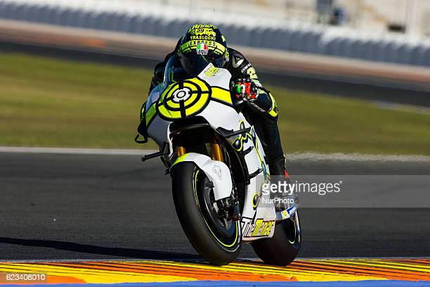 Andrea Iannone from Italy of Team Suzuki Ecstar during the colective tests of Moto GP at Circuito de Valencia Ricardo Tormo on November 15th 2016 in...