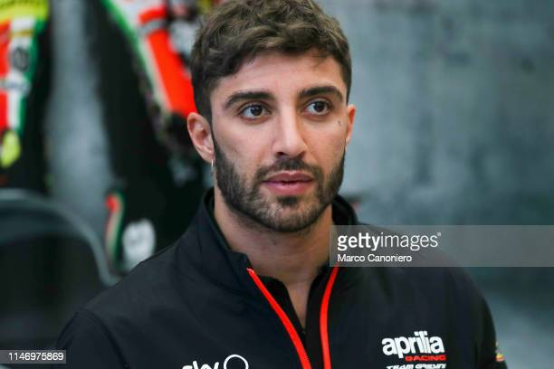 Andrea Iannone of Italy and Aprilia Racing Team Gresini in the paddock on the eve of the Moto GP Oakley Grand Prix of Italy