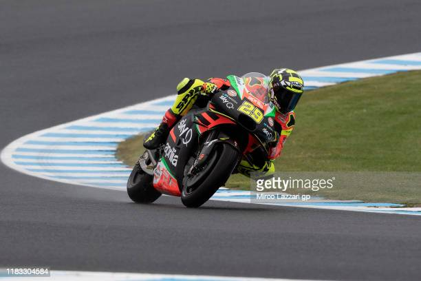 Andrea Iannone of Italy and Aprilia Racing Team Gresinrounds the bend during free practice for the 2019 MotoGP of Australia at Phillip Island Grand...