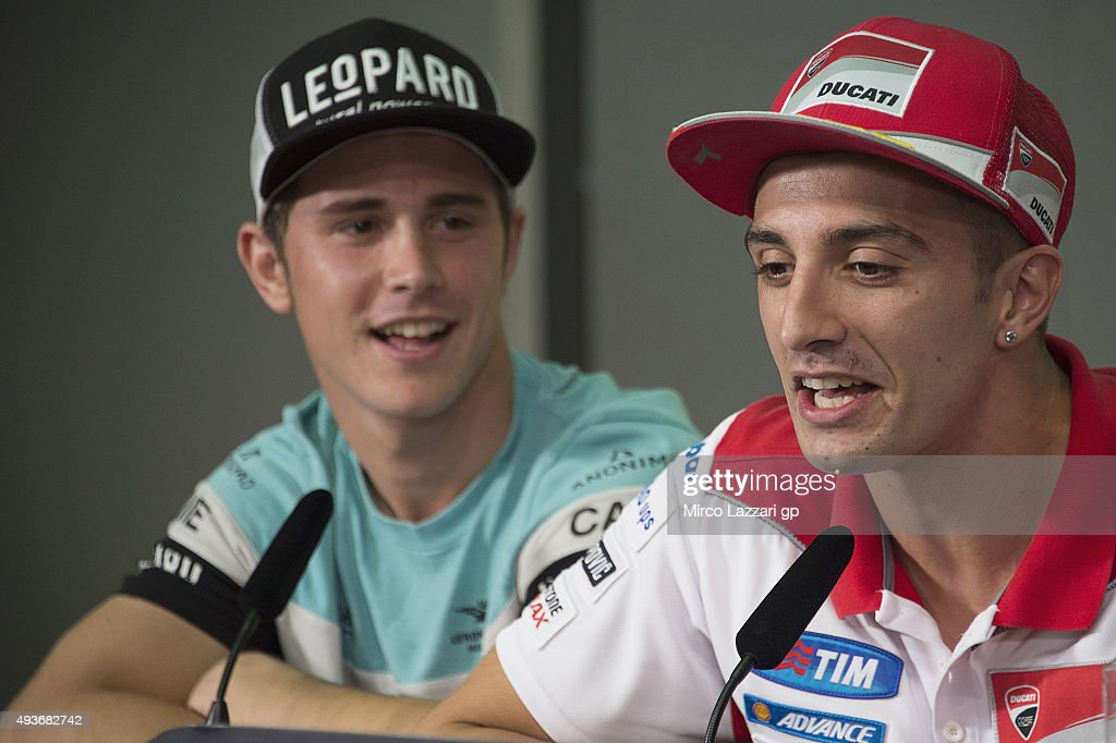 Andrea Iannone of Italy and Ducati Team speaks during the press conference ahead of the MotoGP of Malaysia at Sepang Circuit on October 22, 2015 in Kuala Lumpur, Malaysia.