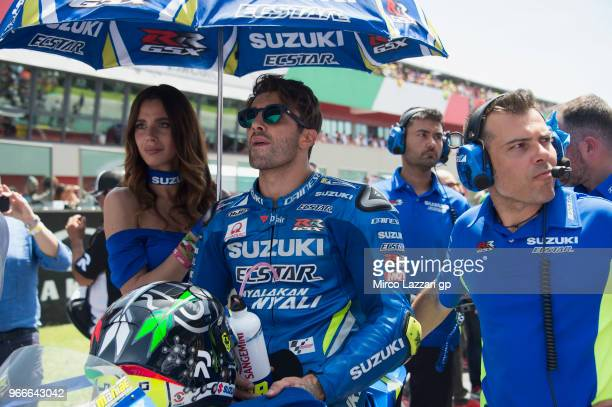 Andrea Iannone of Italy and Team Suzuki ECSTAR prepares to start on the grid during the MotoGP race during the MotoGp of Italy Race at Mugello...