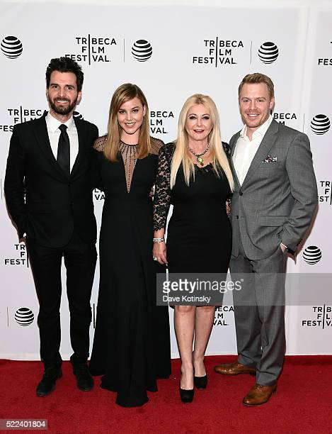 Andrea Iervolino Abbie Cornish Lady Monika Bacardi and Diego Klattenhoff attend the LAVENDER World Premiere at Tribeca Film Festival 2016 on April 18...