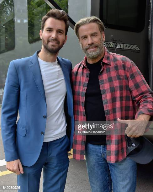 Andrea Iervolino and John Travolta is on The Set Of The Movie Trading Paint on September 1 2017