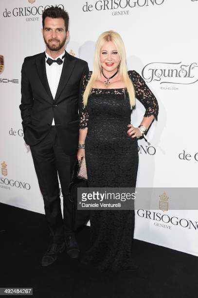 Andrea Iervolino and Monika Bacardi attend the De Grisogono Party at the 67th Annual Cannes Film Festival on May 20 2014 in Cap d'Antibes France