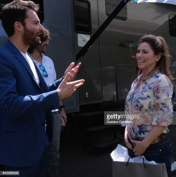 Andrea Iervolino and Shania Twain is on The Set Of The Movie Trading Paint on September 1 2017