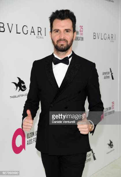 Andrea Iervolino attends Elton John AIDS Foundation 26th Annual Academy Awards Viewing Party at The City of West Hollywood Park on March 4 2018 in...
