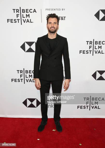 Andrea Iervolino attends the BLUE NIGHT Tribeca Film Festival Red Carpet Arrivals at SVA Theater on April 19 2018 in New York City