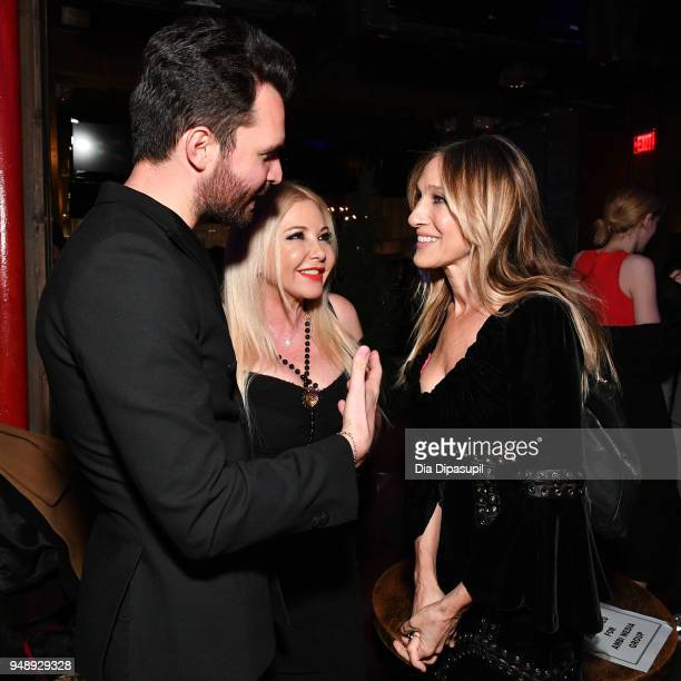 Andrea Iervolino Lady Monika Bacardi and Sarah Jessica Parker attend the 2018 Tribeca Film Festival afterparty for 'Blue Night' hosted by Nespresso...