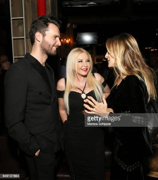 Andrea Iervolino Lady Monika Bacardi and Sarah Jessica Parker attend the Ambi Gala Tribeca party for 'Blue Night' at The Ainsworth on April 19 2018...
