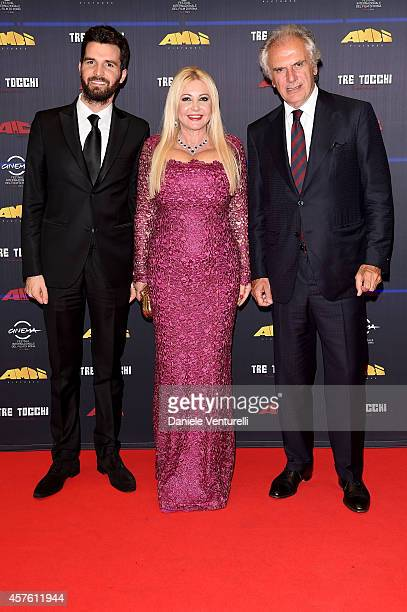 Andrea Iervolino Monika Bacardi and Marco Risi attend 'Tre Tocchi' Party during the 9th Rome Film Festival on October 21 2014 in Rome Italy