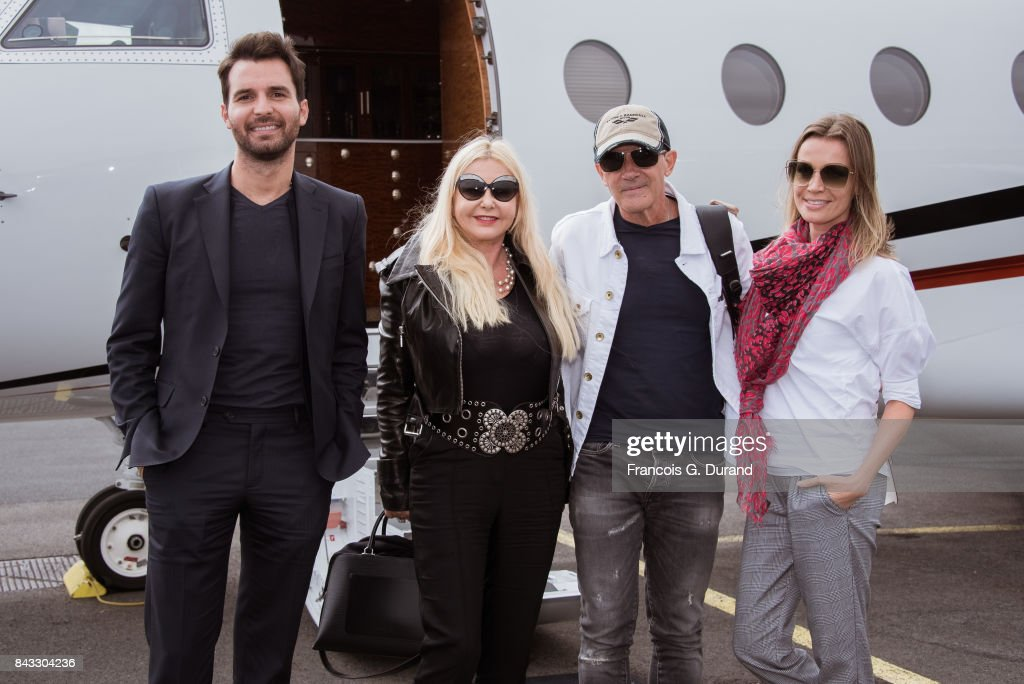 The Cast Of The Music Of Silence Arrives At The Deauville Airport - 43rd Deauville American Film Festival