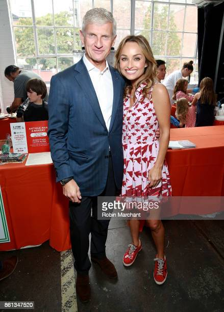 Andrea Illy and Giada De Laurentiis attend Italian Harvest Party with illy at Industria on October 14 2017 in New York City