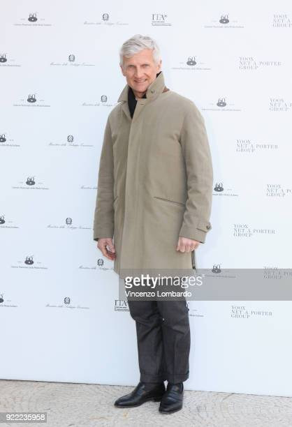 Andrea Illy attends 'Italiana L'Italia Vista Dalla Moda 19712001' exhibition preview during Milan Fashion Week Fall/Winter 2018/19 at Palazzo Reale...