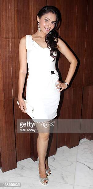 Andrea Jeremiah during the promotion of the forthcoming dual language Tamil and Hindi film Vishwaroopam at a press conference in Mumbai on December...