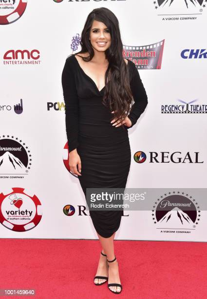 Andrea Johnson attends the 8th Annual Variety Children's Charity of SoCal Texas Hold 'Em Poker Tournament at Paramount Studios on July 18, 2018 in...
