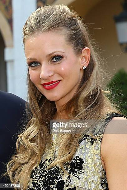Andrea Joy Cook aka AJ Cook attends a Cocktail Reception at Monaco Palace on June 9 2014 in MonteCarlo Monaco