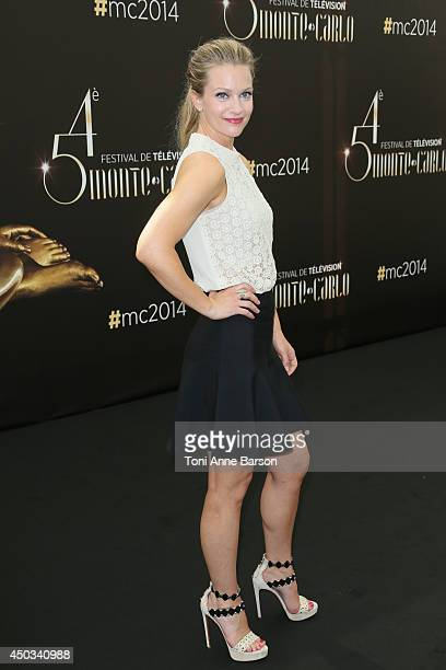 "Andrea Joy Cook aka A.J. Cook attends ""Criminal Minds"" photocall at the Grimaldi Forum on June 9, 2014 in Monte-Carlo, Monaco."