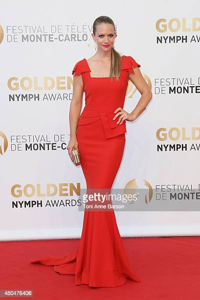 Andrea Joy Cook aka A.J. Cook attends the Closing Ceremony and Golden Nymph Awards of the 54th Monte Carlo TV Festival on June 11, 2014 in...