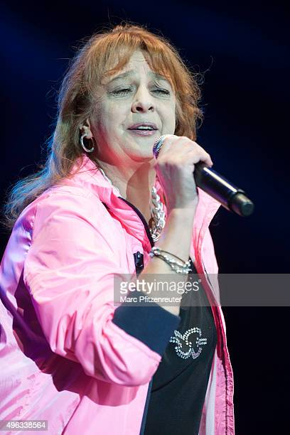 Andrea Juergens performs onstage during the 'SchlagerStarparade' at the KoenigPilsenerArena on November 8 2015 in Oberhausen Germany