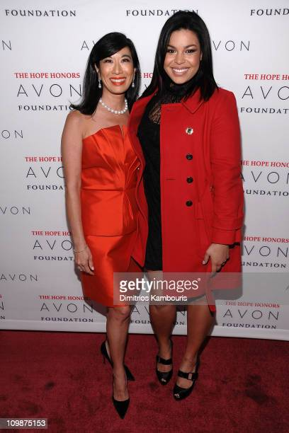 Andrea Jung Chairman and CEO of Avon Products Inc and Jordin Sparks attend the Hope Honors hosted by the Avon Foundation at Cipriani 42nd Street on...