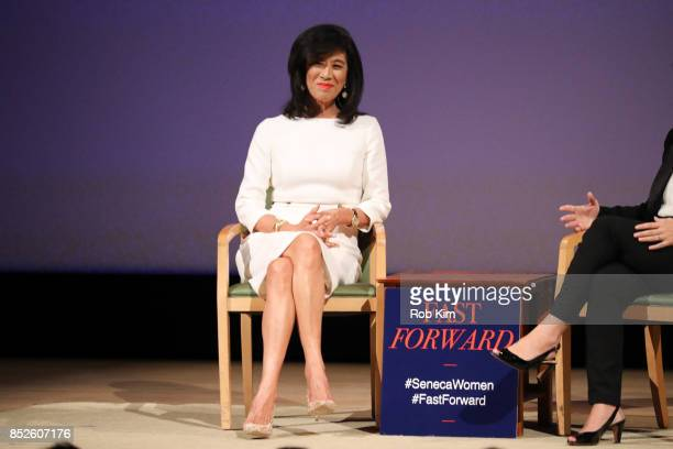 Andrea Jung President and CEO Grameen America attends Fast Forward Women's Innovation Forum at The Metropolitan Museum of Art on September 23 2017 in...