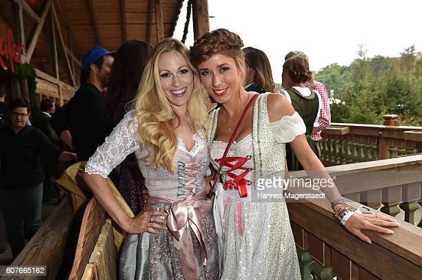 Andrea Kaiser and Annemarie Carpendale during the ProSieben Sat1 Wiesn as part of the Oktoberfest 2016 at Kaefer Tent on September 18, 2016 in...