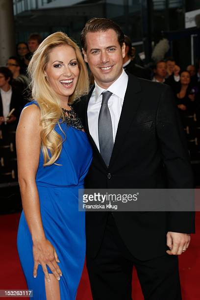 Andrea Kaiser and her husband Lars Ricken attend the German TV Awards 2012 at Coloneum on October 2 2012 in Cologne Germany