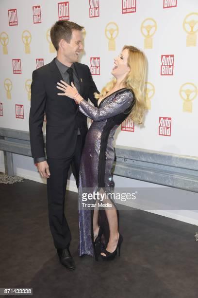 Andrea Kaiser and her husband Sebastien Ogier attend the 'Das Goldene Lenkrad' Award at Axel Springer Haus on November 7 2017 in Berlin Germany