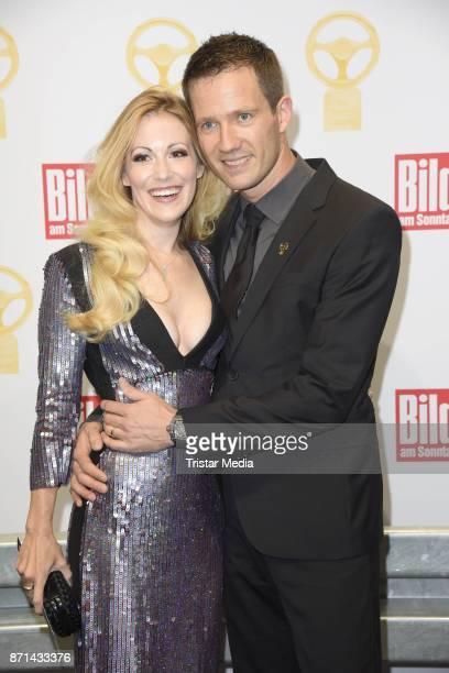 Andrea Kaiser and her husband Sebastien Ogier attend the 'Das Goldene Lenkrad' Award at Axel Springer Haus on November 7, 2017 in Berlin, Germany.