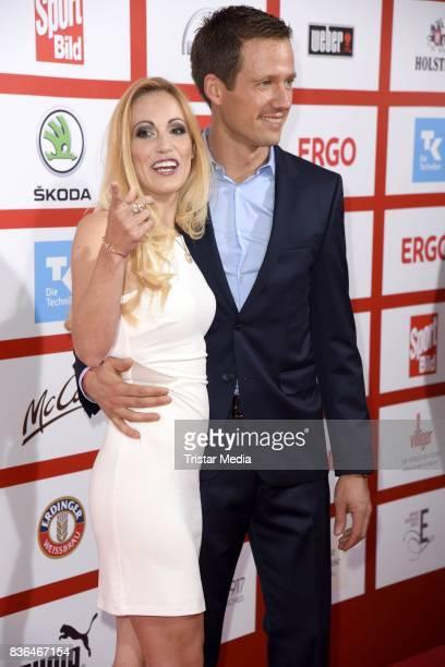 Andrea Kaiser and her husband Sebastien Ogier attend the Sport Bild Award on August 21 2017 in Hamburg Germany