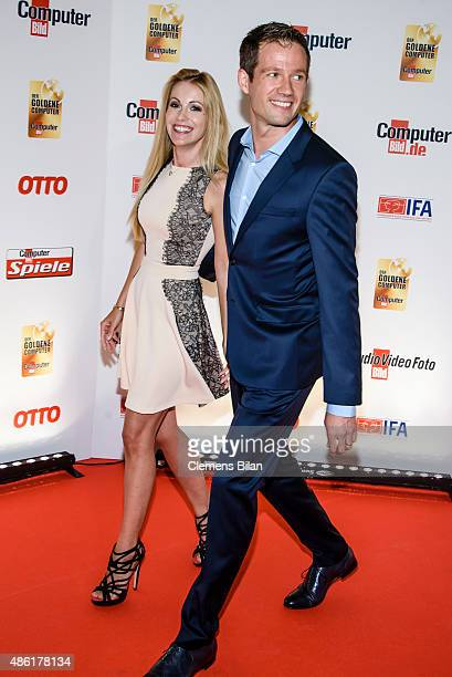 Andrea Kaiser and Sebastien Ogier attend the 'Der Goldene Computer 2015 Award' on September 1 2015 in Berlin Germany