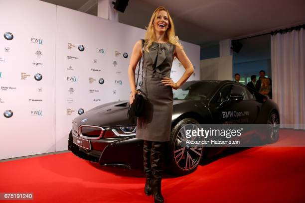 Andrea Kaiser arrives at the Players Night of the 102 BMW Open by FWU at Iphitos tennis club on April 30 2017 in Munich Germany