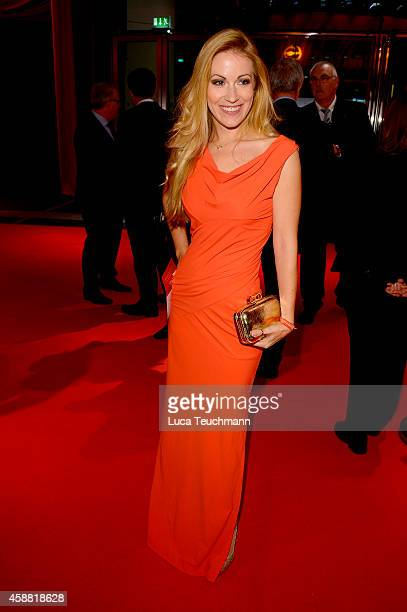 Andrea Kaiser attends 'Goldenes Lenkrad' Award 2014 at Axel Springer Haus on November 11 2014 in Berlin Germany