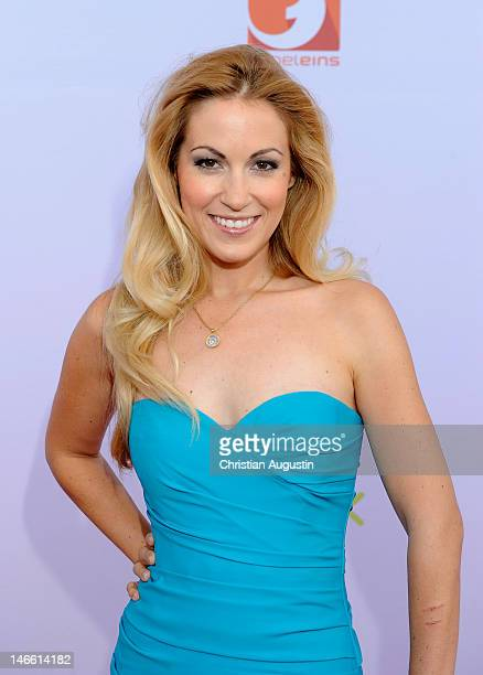Andrea Kaiser attends photocall of ProSiebenSat.1 press conference at Hamburg Cruise Center on June 20, 2012 in Hamburg, Germany.