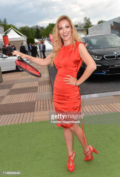 Andrea Kaiser attends the Aufschlag bei BILD 2019 event on the occasion of the BMW Open by FWU on May 02, 2019 in Munich, Germany.