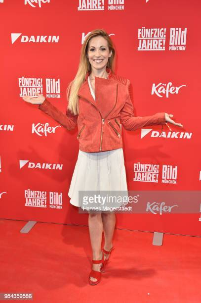 Andrea Kaiser attends the BILD Muenchen Newspaper 50th anniversary party at MTTC IPHITOS on May 3 2018 in Munich Germany