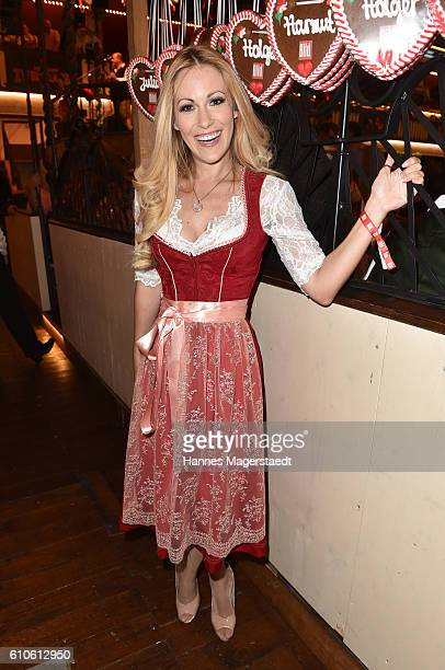 Andrea Kaiser attends the BILD Wiesn at Marstall Festzelt during the Oktoberfest at Theresienwiese on September 26 2016 in Munich Germany
