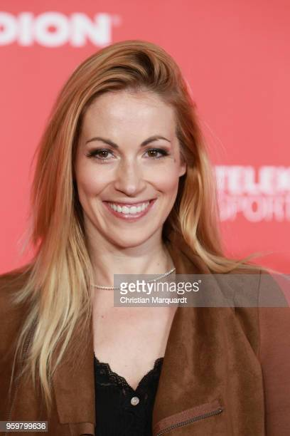 Andrea Kaiser attends the BILD100 SPORT Get Together at Bild Sport Arena on May 18, 2018 in Berlin, Germany.