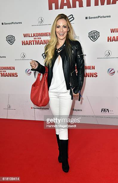Andrea Kaiser during the 'Willkommen bei den Hartmanns' premiere at Mathaeser Filmpalast on October 25 2016 in Munich Germany